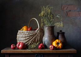 Помидоры / летний урожайный натюрморт