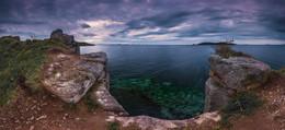 Без названия / Панорама из 24 вертикальных кадра в два ряда. Россия, Приморский край, побережье Японского моря.