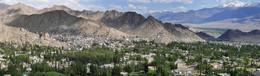 Город Ле / Главный город провинции Ладах, расположен на высоте 3500 м в Гималаях, Индия