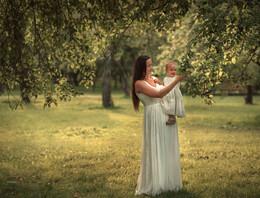 В яблоневом саду /