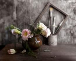 цветы и кисти / цветы, кисти