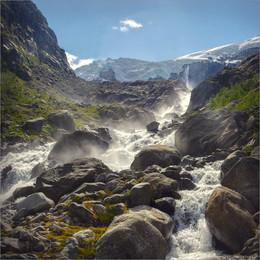 / Норвегия, по дороге к леднику.