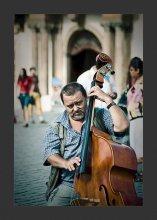 """КонтраБандист... / Из серии """"Уличные Музыканты..."""" contrabass + band = КонтраБандист ... ;)"""