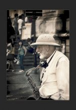 """Старый Саксофонист... / Из серии """"Уличные Музыканты..."""""""