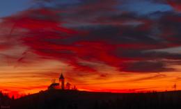 Рассвет над горой / гора Ямник, Юлианские Альпы, Словения