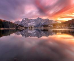 осенний закат.. / Доломитовые Альпы