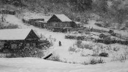 Снегопад / Снегопад на Кордоне.