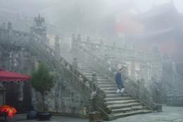Туманный турист и житель Поднебесной / Монастырь в горах Удана. Долго думал к какому жанру отнести, так и не понял.