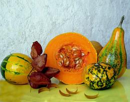 Осенний урожай / разноцветные тыквы