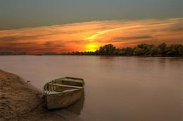 Закат на Кубани / река Кубань