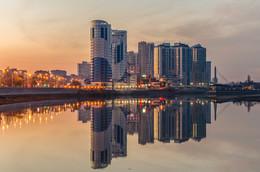 Утро на набережной / Кубанская набережная, декабрь 2017.