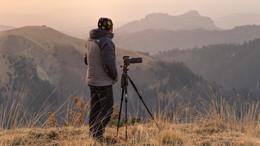 Ожидание / Обычный рабочий момент пейзажного фотографа . С Наступающим !