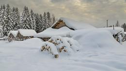 Февраль снежень... / деревни Вологодчины...