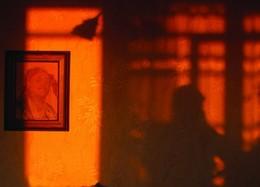 оранжевый закат / показались мне красивое сочитания сввета и цвета