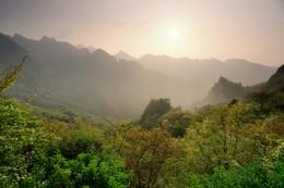 Закат в горах Удана. / Закат в горах Удана.