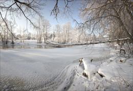 Морозное утро / Переправа на реке Нарочанка