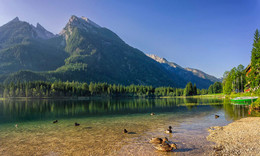 Pro утят на Хинтерзее / Озеро Хинтерзее, Альпы, Верхняя Бавария. http://www.youtube.com/watch?v=-yGrHNvbWeM