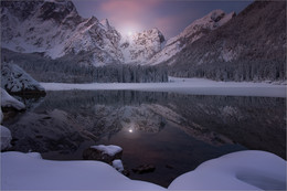 / Morgens am Lago Fusine