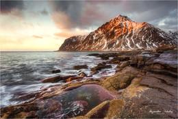 / Пляж Varied.Norway. Lofotenislands.