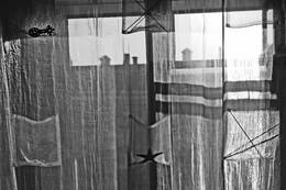 Летний вечер / Вечер шторы вид за окном