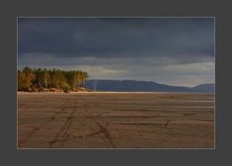 В лучах солнца / Берег Жигулевского моря в районе Муравьиных островов.