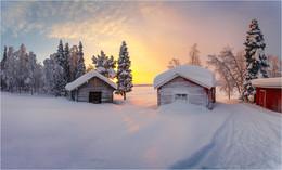 / Морозное утро где-то в Швеции...