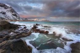 / Skagsanden beach,Lofoten islands.Norway.