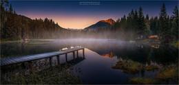 / Morgens am Schattensee in Krakauschatten Steiermark Österreich
