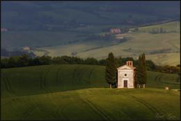 Madonna di Vitaleta / Часовня Madonna di Vitaleta в окрестностях Сан Квирико д'Орчия тоскана.