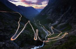 Fiery Trollstigen / Лестница Троллей, Норвегия.