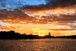 сентябрьский вечер / осенний закат в Выборге.