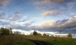 Приближение осени / Осенняя проселочная дорога