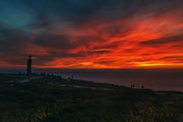 Настоящий закат / Португалия, мыс Рока.