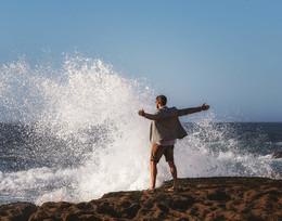 Свобода не требует согласований... / Португалия, Атлантический океан.
