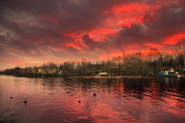 Осенний клин заката... / Осенние зарисовки пасмурного Выборга 2018 Прогуливаясьвечером вдоль набережной и любуясь этой красотой, захотелось поделится частицей прекрасного и передать красоту вечернего неба. #Выборг #Vyborg #красивыефотографии