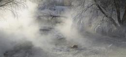Зимние туманы. / река Листвянка Рязанская обл.