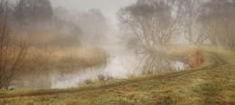 Осенне утро / Река Свислочь