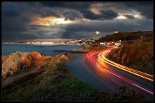 Cobo Bay / Guernsey(Нормандскиe островa, UK). Вечер, 3 ND фильтра, 15sec. Пейзажи Guernsey в слайд шоу: http://www.youtube.com/watch?v=zdWgP9_VnPw