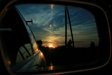 Тема автомобильных зеркал / Вечером у старой мельницы