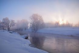 Зимняя река. / Истра