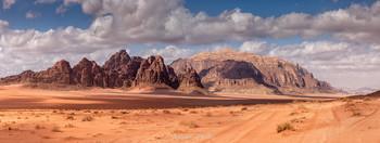 Панорама Лунной Долины / Пустыня Вади Рам, Иордания