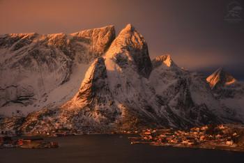 Reine / На фото - Reine Лофотены, Норвегия.