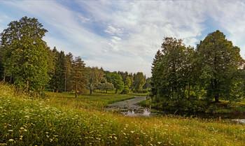 Река Славянка. Июнь. / Павловск. Лето.
