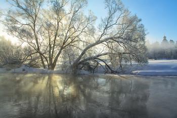 Зимнее утро. / морозным утром на Истре