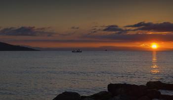 На утреннем рейде / о.Тасос,Греция.