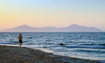 Вечерняя пробежка / Греция,о.Кос.