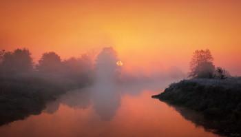 Морозное утро / Туманный рассвет