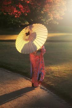 Момидзи Японии.Гейша / https://mikhaliuk.com/Japan-Phototour-Fuji-Sakura-flowering/