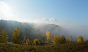 Туман с Оки. / Берега Оки. Утро. Туман.