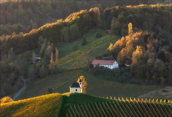 Последние отблески заката / Часовня Dreisiebner находится в очень живописном местечке Gamlitz - Sernau Штирия,Австрия.